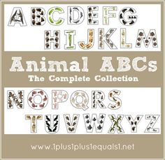 Animal ABCs ~ the complete collection.  Links to all posts A-Z from 1+1+1=1