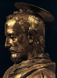 "cavetocanvas: ""Donatello, busto relicario de San Rossore (detalle), 1425-27"""