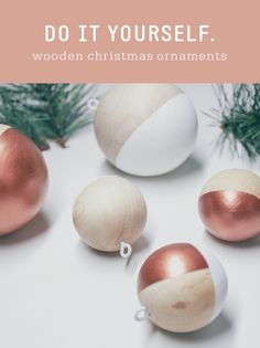 DIY Modern Wooden Christmas Ornaments