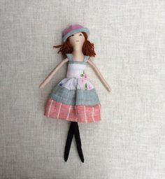 "Fabric doll,Dress up doll, Mom Daughter dolls, doll set, play set, soft doll, 13"" doll, rag doll,"