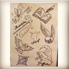 Harry Potter Tattoo Designs (Unknown Artist) <3