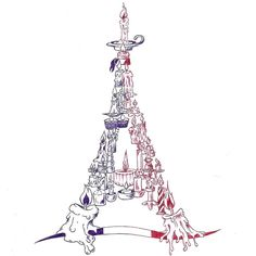 Pray for Paris - tollrajz