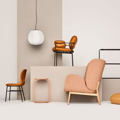 Rich colours, curved shapes and heavy fabrics all feature in the latest collection from Swedish furniture brand Fogia, launching at Stockholm Design Week Pastel Furniture, Funky Furniture, Furniture Design, Street Furniture, Outdoor Furniture, Furniture Ideas, Stockholm Design, Style Artisanal, Bureau Design