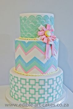 Geometric Cake By maggidup on CakeCentral.com