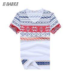 E-BAIHUI summer style mens t shirts fashion printing Clothing Swag Men T-shirts Camiseta Fitness Tee Skate Moleton t shirt Y026