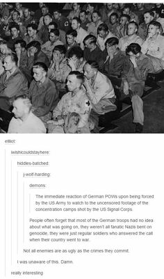 WW2, This is really true, but also I hate the ones that I can tell feel no remorse