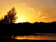 #Sonnenuntergang am #OyterSee in #Oyten
