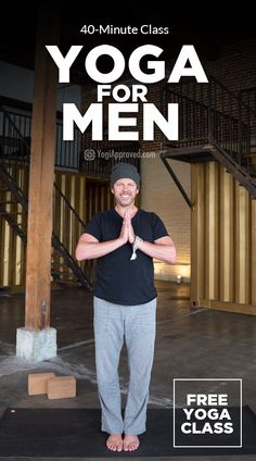 Yoga for men is a great way for guys to loosen up tight muscles, build strength and feel great! This free class targets the hips and is all-levels friendly.
