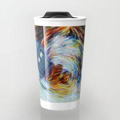 Phone box doctor jump into time Vortex Travel mug #Travelmugs #tardis #doctorwho #painting #art #starrynight #autumn #fullcolour #timemachine #phonebox