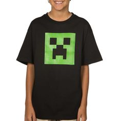 Any kid will adore this Minecraft Glow in the Dark Creeper t-shirt. It is the stuff of dreams! Nights, normally. Find more minecraft gifts and fun at ComputerGear.com #Minecraft