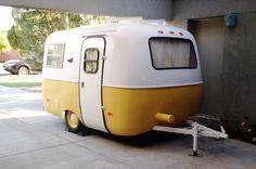 70 Small Scamp Trailer Makeover And Renovation 01 - Abchomedecor Vintage Rv, Vintage Caravans, Vintage Travel Trailers, Vintage Campers, Casita Trailer, Scamp Trailer, Trailers Camping, Camper Trailers, Scamp Camper