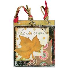 Celebrate autumn by using leaves to decorate a fall layout, card or album. This is also a great leaf to cut out and sprinkle down the center of a Thanksgiving Day table.