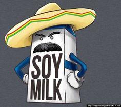 Of The Corniest Food Jokes Ever What if soy milk is just regular milk introducing itself in Spanish?What if soy milk is just regular milk introducing itself in Spanish? Food Jokes, Food Humor, Funny Jokes, Hilarious, Funny Cartoons, Spanish Puns, Spanish Posters, Funny Spanish, Teaching Spanish