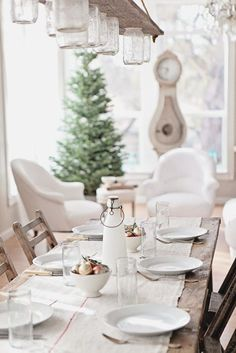 A Swedish Gustavian Christmas. So pretty in white.