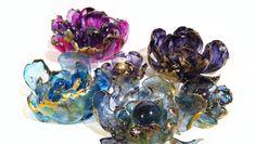 Színezett virágok fóliából