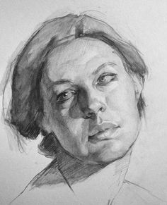 Portrait Drawing « After some commission work was complete for the day, I decided to play around… - Portrait Draw, Portrait Sketches, Pencil Portrait, Life Drawing, Drawing Sketches, Painting & Drawing, Sketches Of People, Drawing People, Figure Sketching