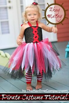 This simple DIY pirate tutu dress is over-the-top adorable. The little details on this dress are perfect, and it honestly could not be easier to make! Pirate Tutu, Pirate Costume Kids, Pirate Fancy Dress, Diy Halloween Costumes, Pirate Party, Fairy Costumes, Tutu Costumes Girls, Scarecrow Costume, Halloween 2020