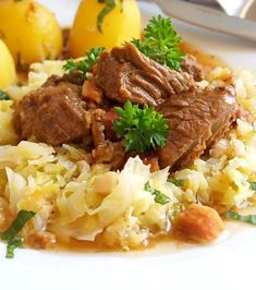 Fotka Pot Roast, Mashed Potatoes, Feta, Grains, Recipies, Rice, Ethnic Recipes, Google, Mascarpone