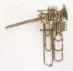 Brass Musical Instruments, Guitar Musical Instrument, Brass Instrument, Instrument Sounds, Sound Of Music, Music Is Life, Valve Trombone, Sound Sculpture, Musical Toys