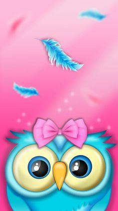 Pin by melissa johnson on owls wallpaper in 2019 Cute Owls Wallpaper, Cute Wallpaper Backgrounds, Animal Wallpaper, Cute Wallpapers, Cellphone Wallpaper, Iphone Wallpaper, Owl Background, Owl Artwork, Owl Clip Art