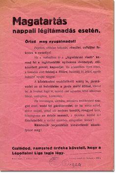 1944 air raid precaution leaflet from Hungary Air Raid, Hungary, Budapest, History, Historia