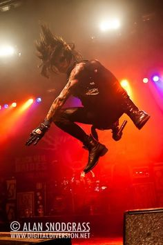 And this is why Andy breaks his ribs and smashes his face off stuff during concerts