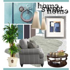 Home Sweet Home by clotheshawg on Polyvore featuring interior, interiors, interior design, home, home decor, interior decorating and Nearly Natural