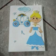 Capa de Caderno Escolar da Princesa #Cinderela  #Princess