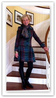 """Liz from Michigan, in the Etcetera """"Dover"""" boucle jacket.  www.etcetera.com"""