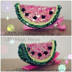 Watermelon Hair Clip! by Little Magic Pieces