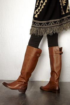 cute boots and aztec print cardigan