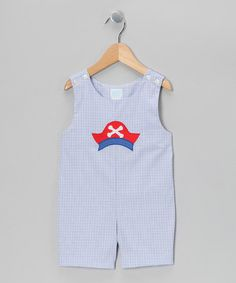 Take a look at this Blue Pirate Hat Shortalls - Toddler by Betti Terrell on #zulily today!