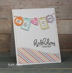 crafting with katie: Banner Birthday Card