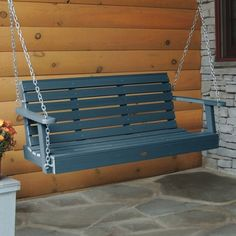 Weatherly Porch Swing 4ft Nantucket Blue - Highwood