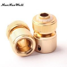 1pcs NuoNuoWell Quick Connector Tap Connector for Garden aluminum Micro Irrigation Watering Hose Pipe Fitting Adapter Coupling