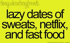 We don't eat fast food, but I love our lazy movie dates <3 @Devin Hunt Hunt Pollard <3