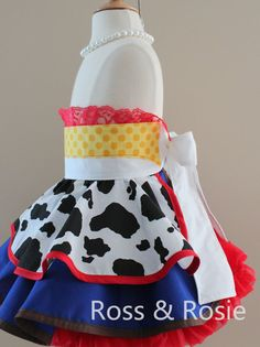 Jessie/Toy Story inspired Dress Up Costume por rossandrosiedesigns Dress Up Aprons, Everyday Princess, Kids Dress Up, Dress Up Costumes, Half Apron, Swing Coats, Ballet Flats, Dressing, Comfy