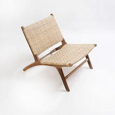 Cadeira de Madeira com Fibra Natural Relax | Balai - balai