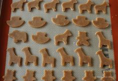 Animal Cracker Cookies 1 1/2 cups blanched almond flour, gently packed 1/2 cup coconut flour 1 tablespoon ground cinnamon 1 teaspoon baking powder 1/2 teaspoon baking soda 1/4 teaspoon sea salt 1/4 teaspoon ground nutmeg 1/4 cup coconut oil, at room temperature 2 eggs 3 tablespoons runny honey 1 teaspoon vanilla extract