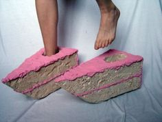 cake shoes ... For when you have a craving or just want to make a really bad fashion statement !