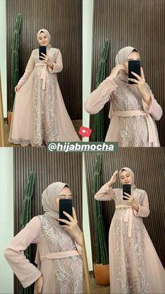 Kebaya Modern Dress, Kebaya Dress, Hijab Prom Dress, Dress Outfits, Dresses, Abaya Fashion, Muslim Fashion, Dress Brokat Muslim, Big Size Dress