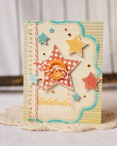 Celebrate - I have tons of these journaling papers I could use for cards...hmmm!