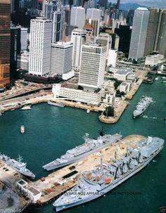 History Of Hong Kong, Places In Hong Kong, Navy Exchange, China Hong Kong, World Cities, Navy Ships, Macau, Royal Navy, The Good Old Days