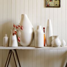 West Elm is one of my fav stores - i actually own the biggest vase on the table!