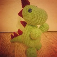 Crochet dinosaur amigurumi toy - perfect for your favourite little boy. Link to pattern at bottom of post.