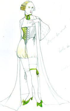 Bozzetti di Patricia Toffolutti per Rigoletto di Giuseppe Verdi: Maddalena - Stagione 2015/2016