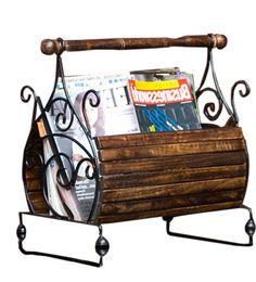 Elegant Magazine Basket by Shiraj Handicrafts