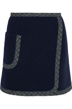 See by Chloé | Mini-jupe en laine mélangée | NET-A-PORTER.COM
