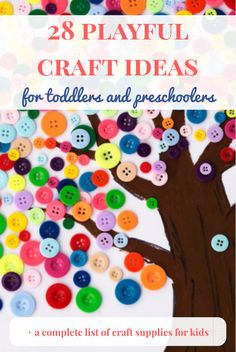 Craft ideas for kids | Craft ideas | Craft supplies for kids | Craft ideas for toddlers | Craft ideas for preschoolers If you like to do craft projects with your kids, you can find here a list of 28 playful craft ideas and a complete list of craft supplies. I'm sure that I'll find some inspiration on this list!