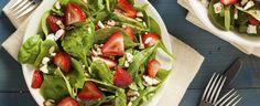 Salade épinards, fraises, balsamique